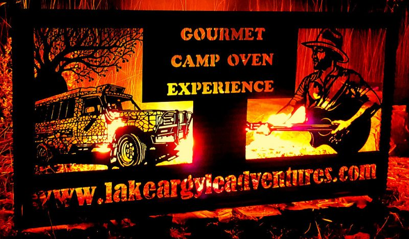 Sign & camp fire